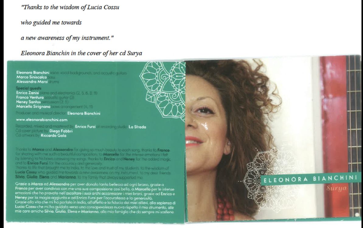 Lucia Cossu voice teacher